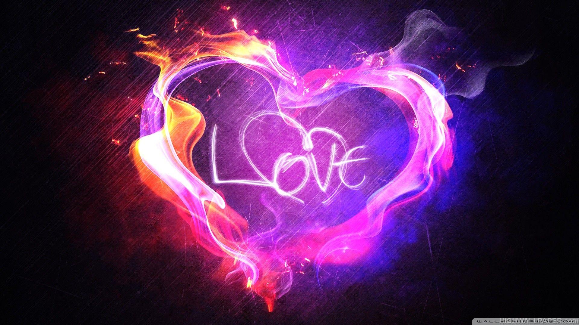 Neon Heart Desktop Background Wallpapers For Desktop ...