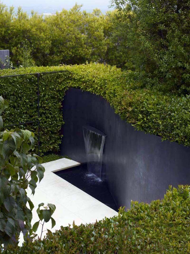 Modern Water Features Modern Water Garden Design Residence Green Landscaping