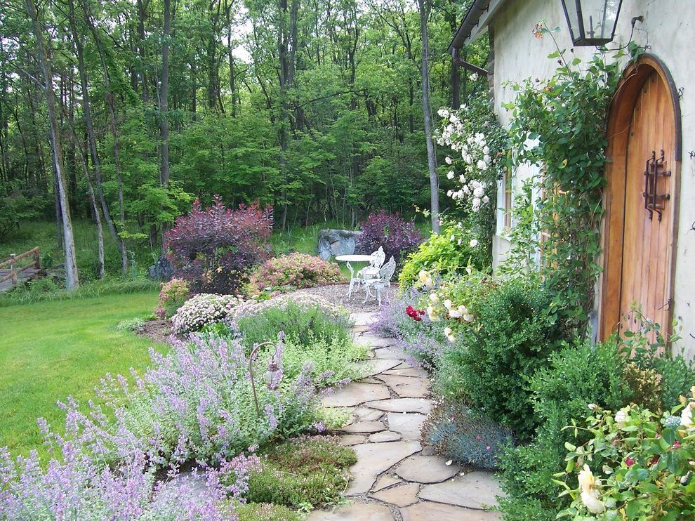 Cottage Garden Path Ideas Landscape Shabby Chic Style With Cottage