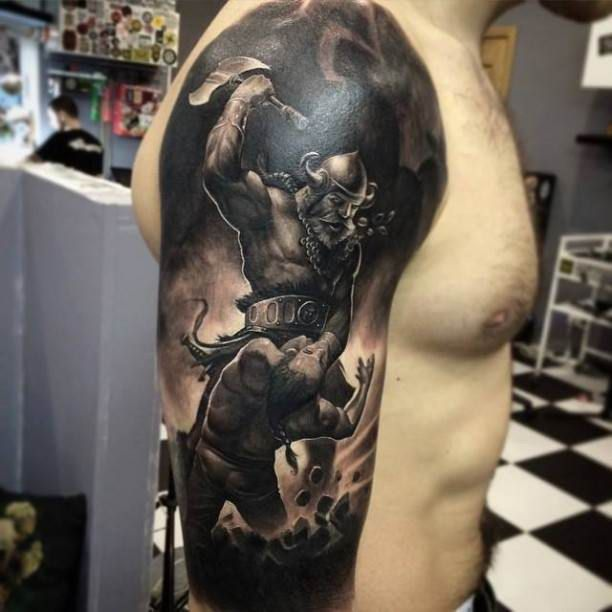 2ae26ae62 Vikings in battle Tattoo #Tattoo, #Tattooed, #Tattoos | Tattoos ...