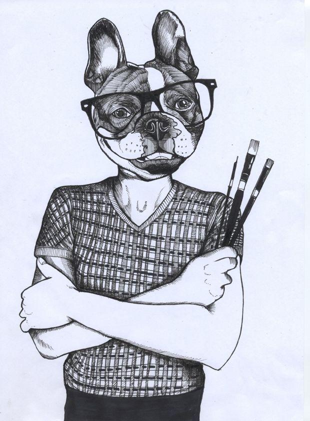 French bulldog selfportrait jeroen teunen the dog - Bulldog dessin anime ...
