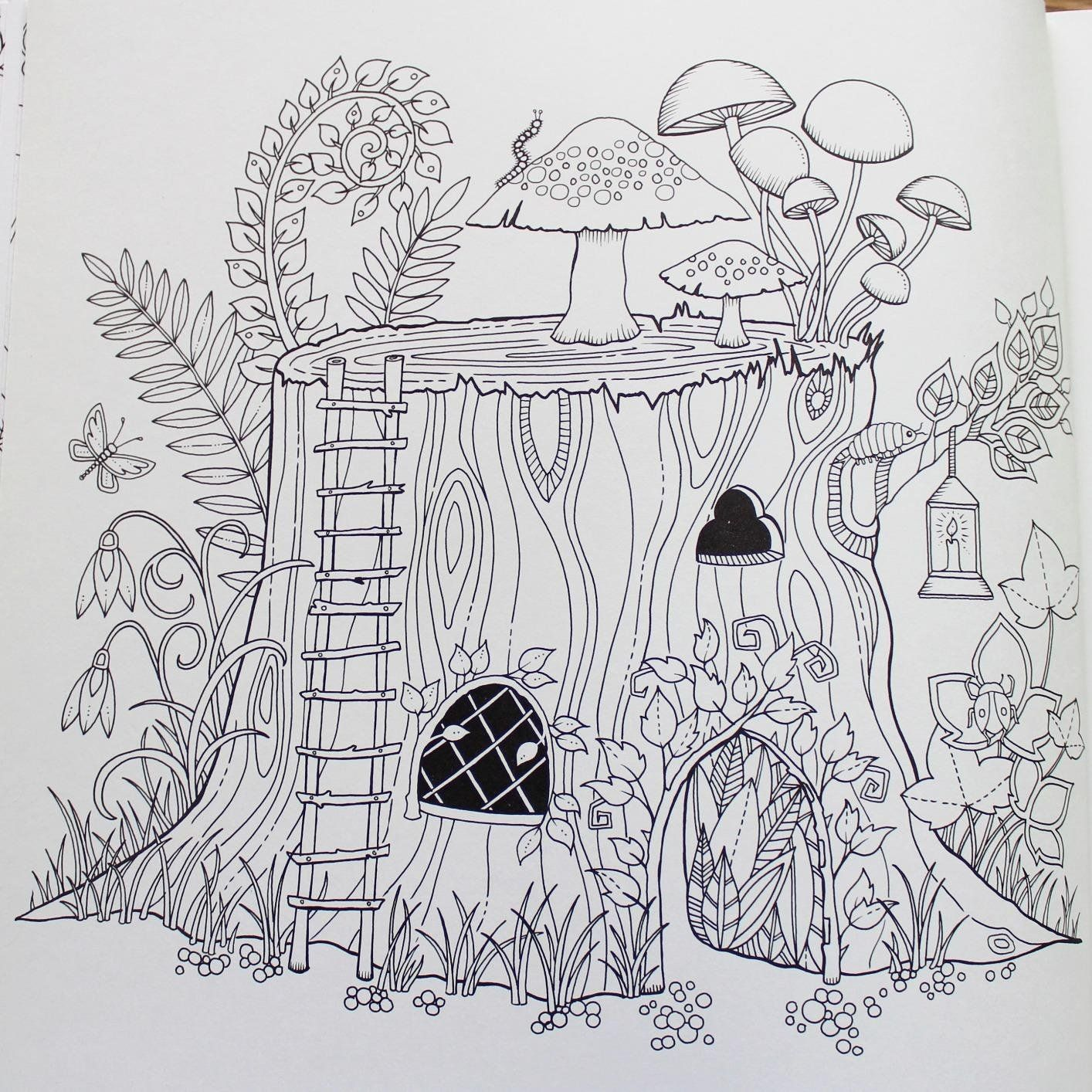 enchanted forest an inky quest coloring book johanna basford 9781780674889. Black Bedroom Furniture Sets. Home Design Ideas