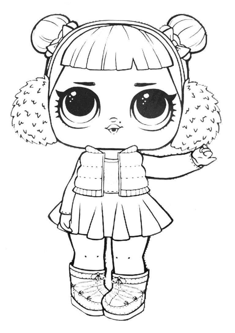 Lol Surprise Doll Coloring Pages Snow Angel Dolls Lol Dolls