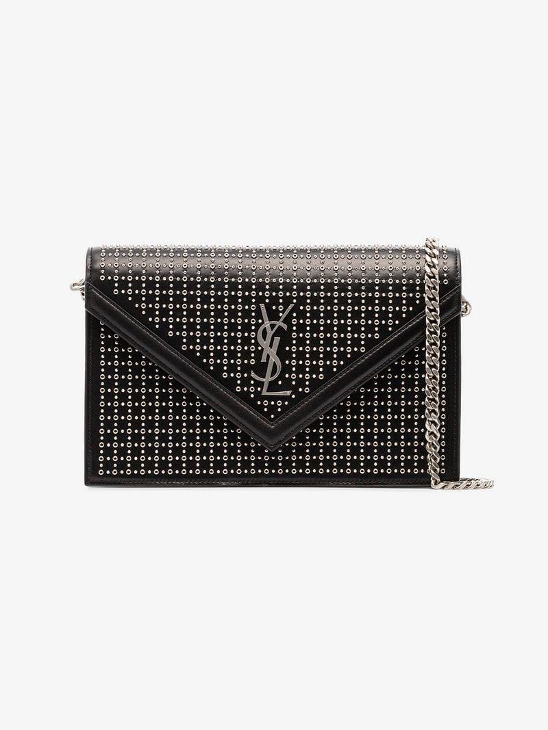SAINT LAURENT   YSL   Leather Stud Le Sept Envelope Bag    3,065   This  black d05941daf4