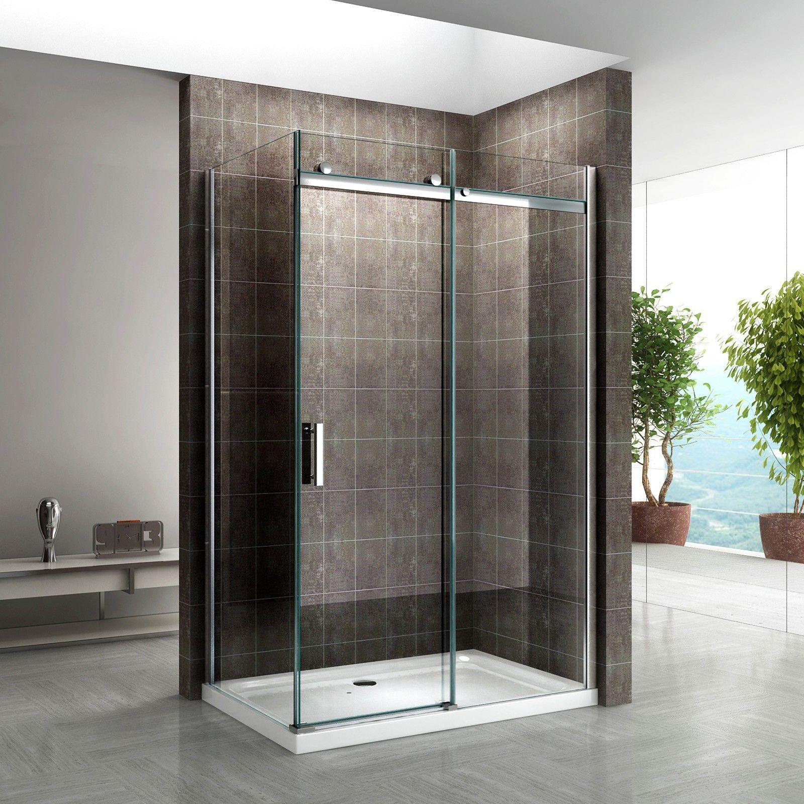 Shower Enclosure Door & Panel 800 x 1200mm Left | Shower wall panels ...