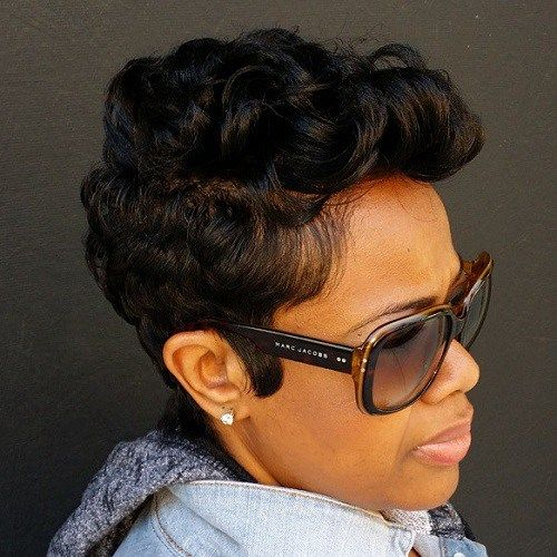 60 Great Short Hairstyles for Black Women | Curly pixie