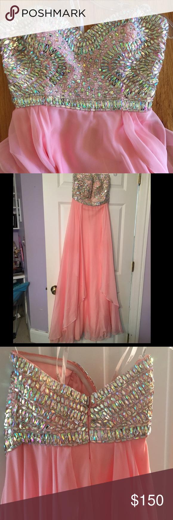 Light pink prom dress tiffany dresses size and prom