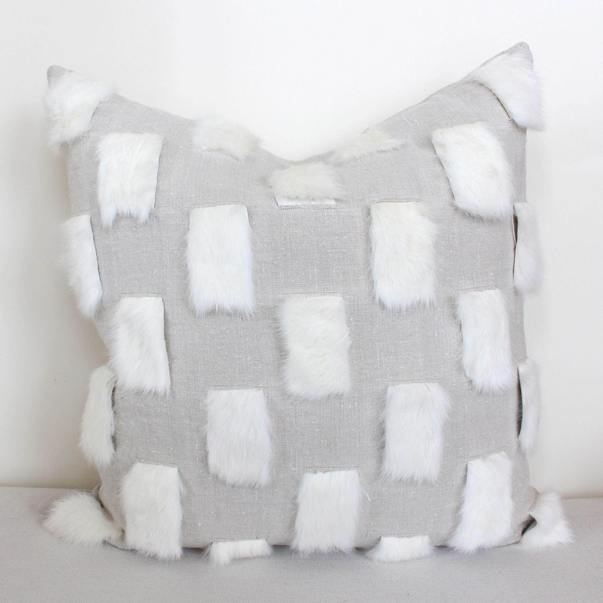 Rabbit Check Pillow – www.summerhousestyle.com