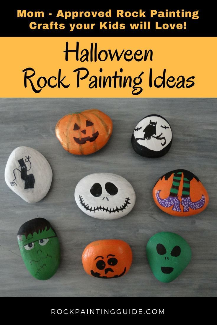 Mom Approved - Halloween Rock Painting Ideas that