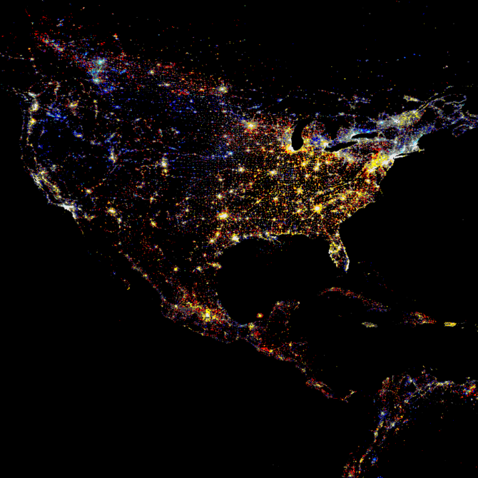 Nighttime Lights Of The World 6 Pics Earth From Space Light