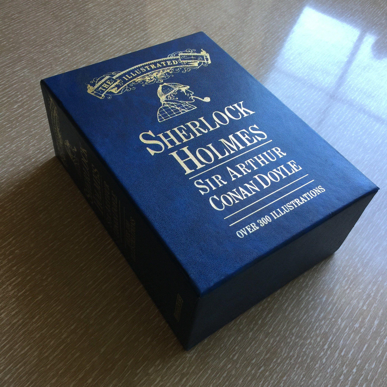 The Illustrated Sherlock Holmes 2 Book Set Peerage Books Etsy Book Set Book Box Sherlock Holmes