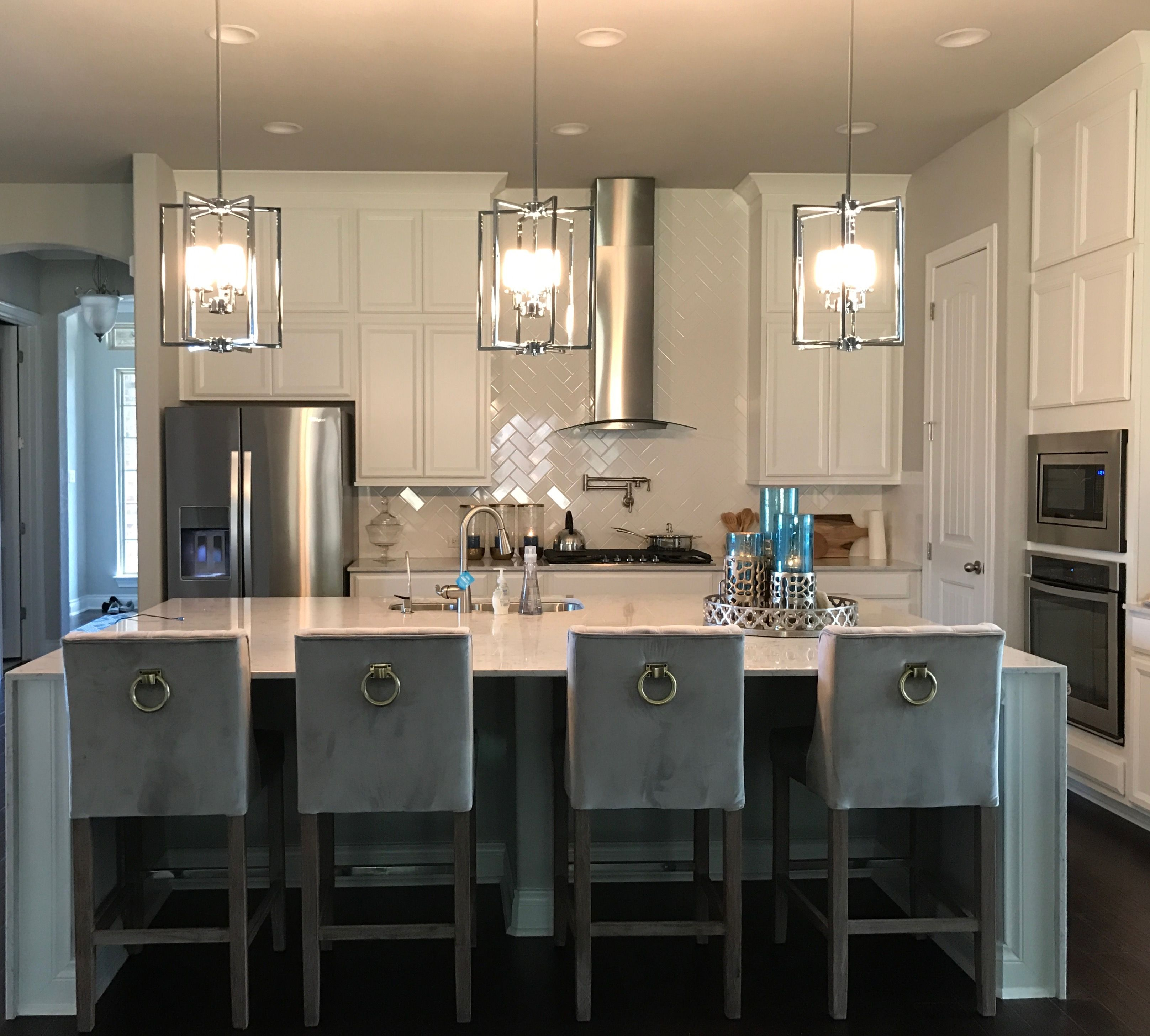 New Kitchen  Nicole Miller Counter Height Bar Stools Lyra Silestone  Counter Tops With Waterfall