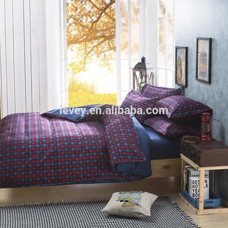 Dark Plaid Design Full Size 2015 Newest Design Hot Selling In UK Custom  Printed Bed Sheets, View Custom Printed Bed Sheets, Ievey Product Details  From Henan ...