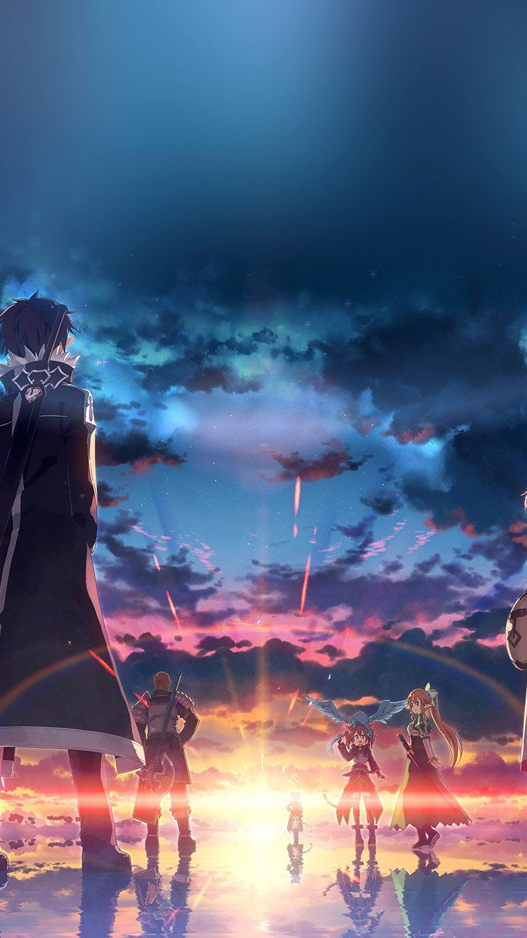 Wallpapers iPhone 6 anime SAO Обои Pinterest Anime