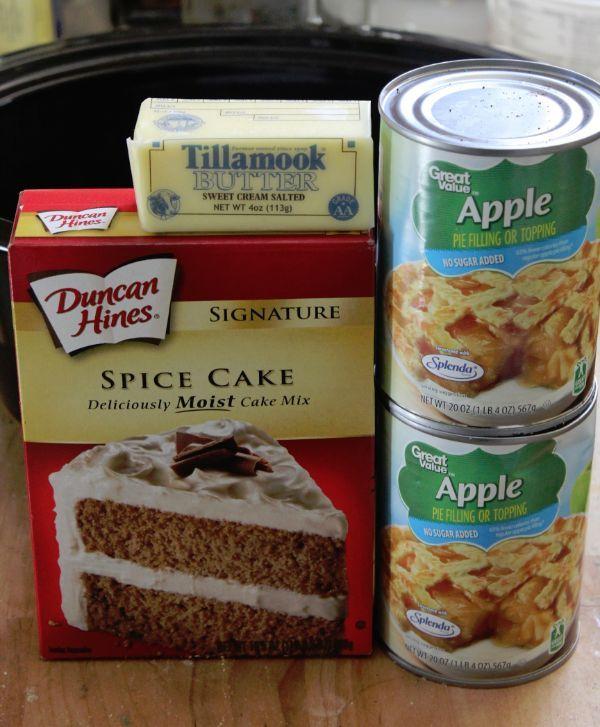 Crockpot Apple Spice Cake Recipe