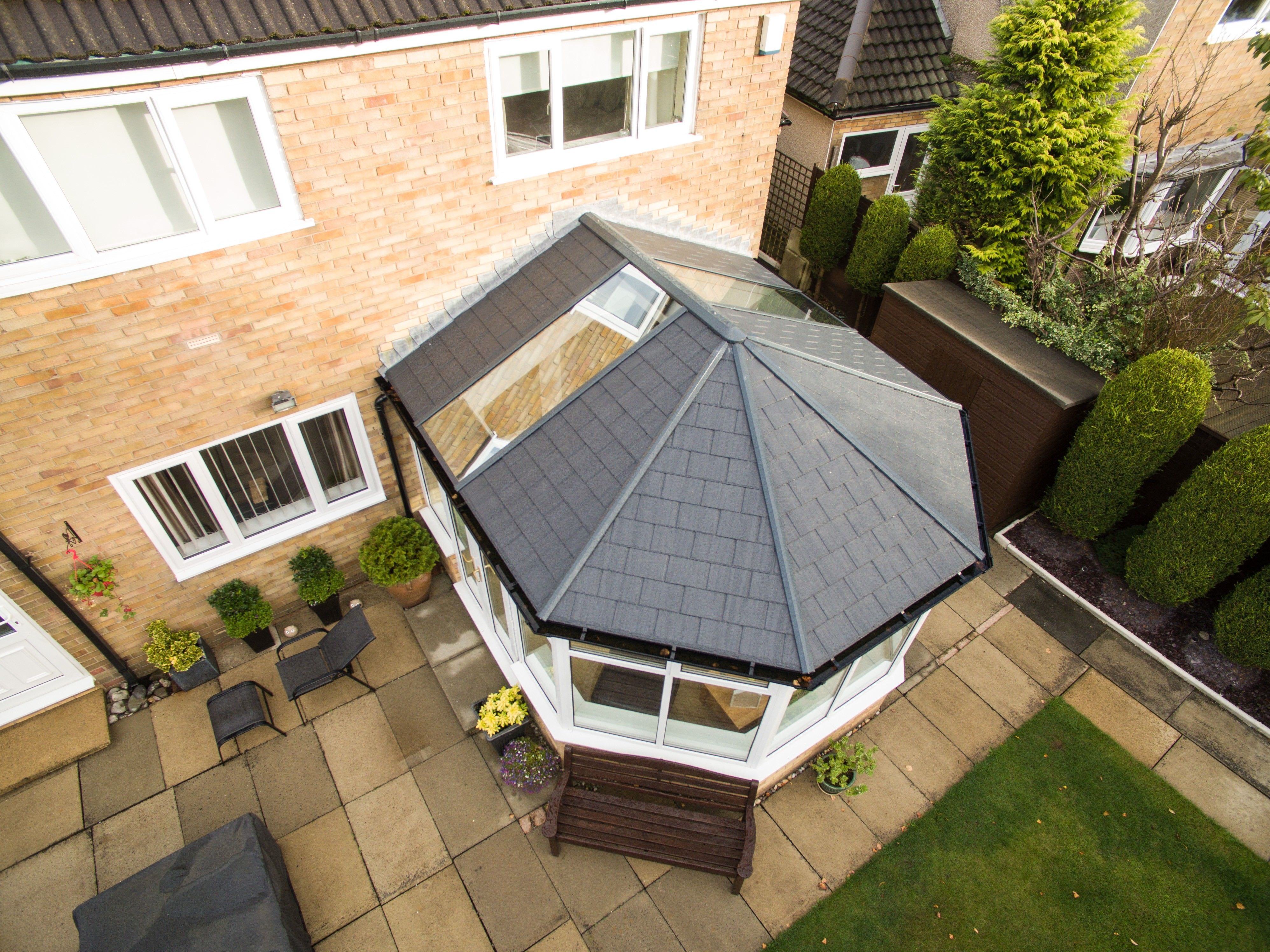 Tiled Conservatory Roofs Are Becoming A Very Popular Option For Conservatories In The U In 2020 Tiled Conservatory Roof Conservatory Roof Replacement Conservatory Roof