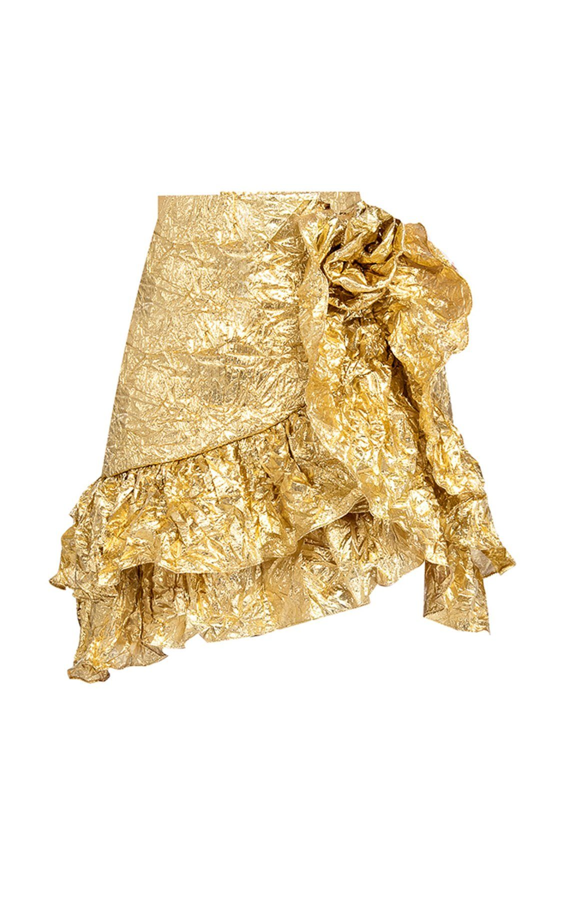78da059d2efb Gold Wrinkle Ruffle Skirt by Bambah SS19   Spring/Summer Must Haves ...