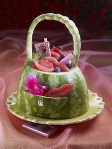 Photo of watermelon carving for wedding Die Mangostanfrucht ist keinerl