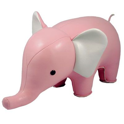 Modern Design Pink Elephant Paperweight, Book End and Design Object