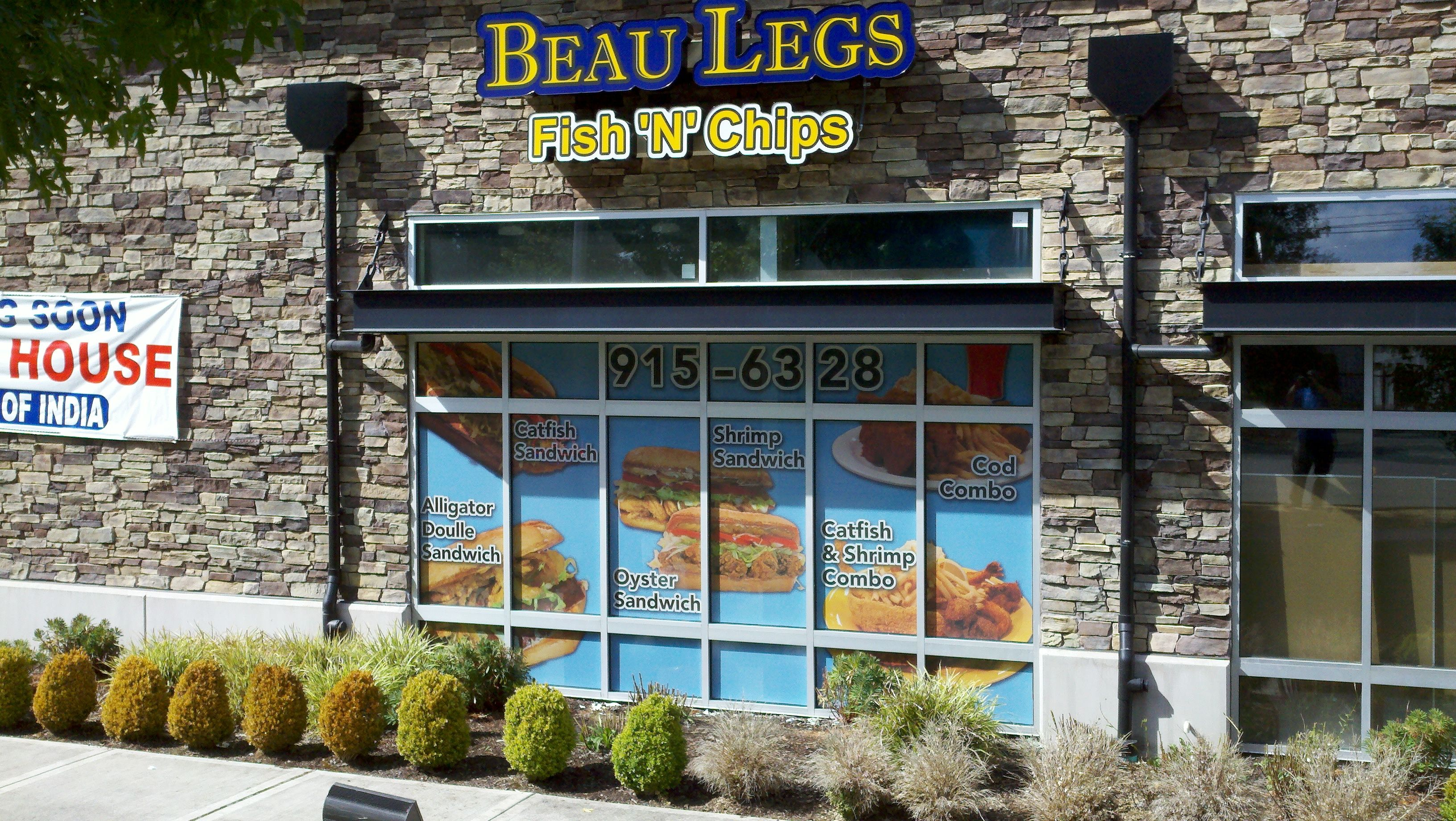 Another great project done perforated window decal for beau legs