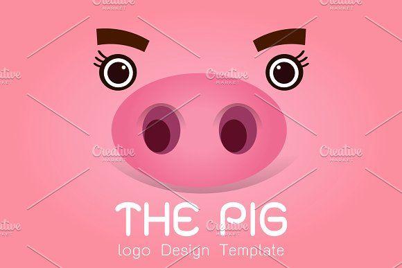 Pig logo design by essense on @creativemarket