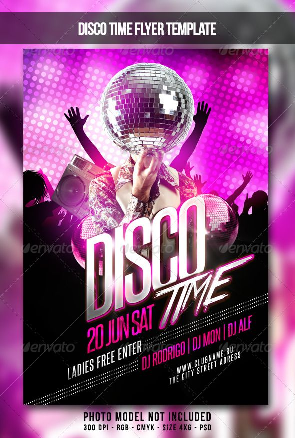 Disco Time Flyer Flyer, Flyer template, Music flyer