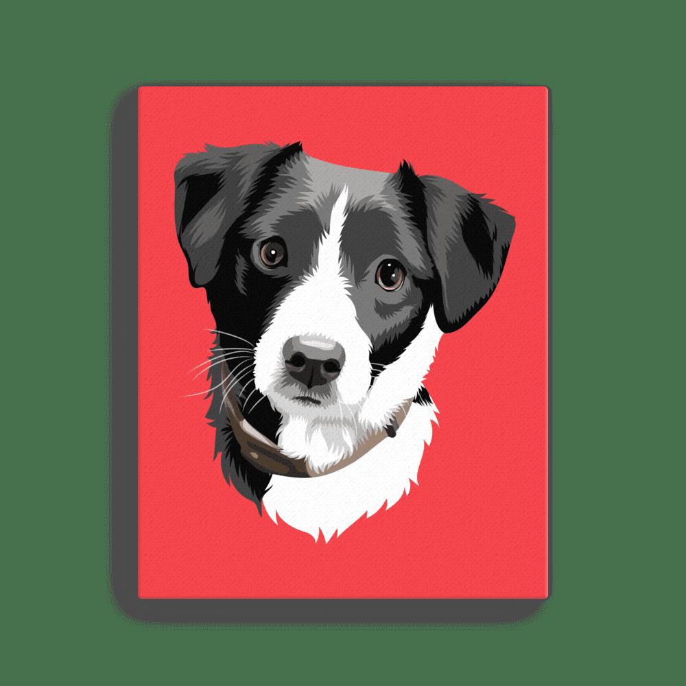 Custom Pet Portrait Canvas Pet Portrait Paintings Pet Portraits Custom Pet Portraits