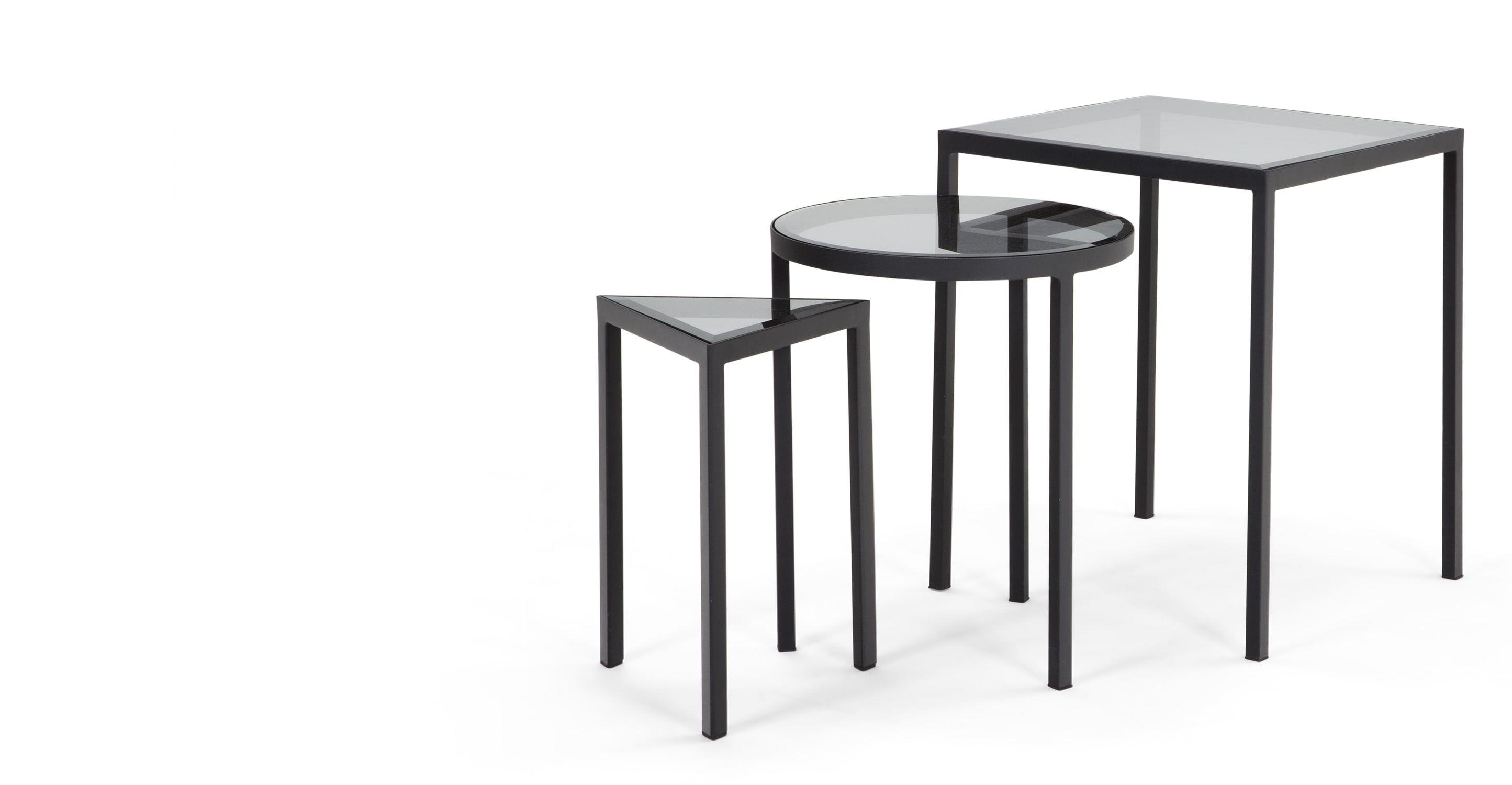 Nova nesting side tables black tables living rooms and room nova nesting side tables black geotapseo Images