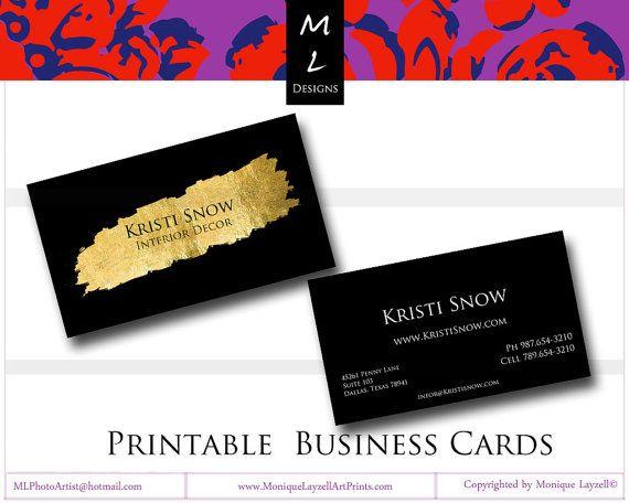 Gold splash black printable business card resumes interview tips gold splash black printable business card colourmoves