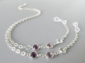 c184855158ec Purple Eye Glass Chain - Eyeglass Holders Necklaces for Women - Womens  Glasses Lanyard - Purple Eyeglass Necklace - Reading Glasses Chains by  HalfSnow for ...