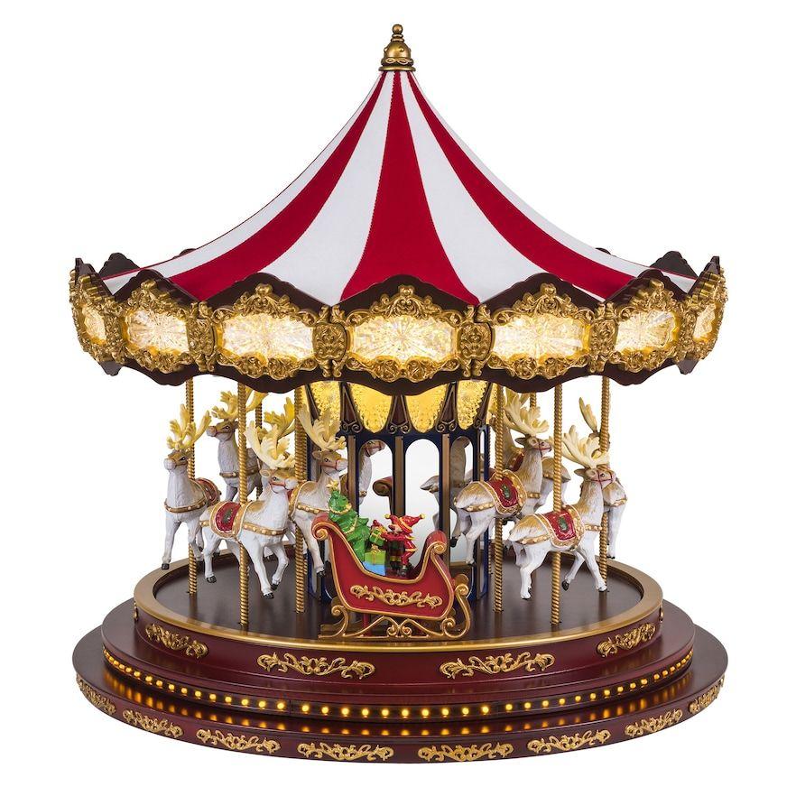 Christmas Carousel Recreation 2020 Mr Christmas Deluxe Christmas Carousel Table Decor in 2020 | Mr