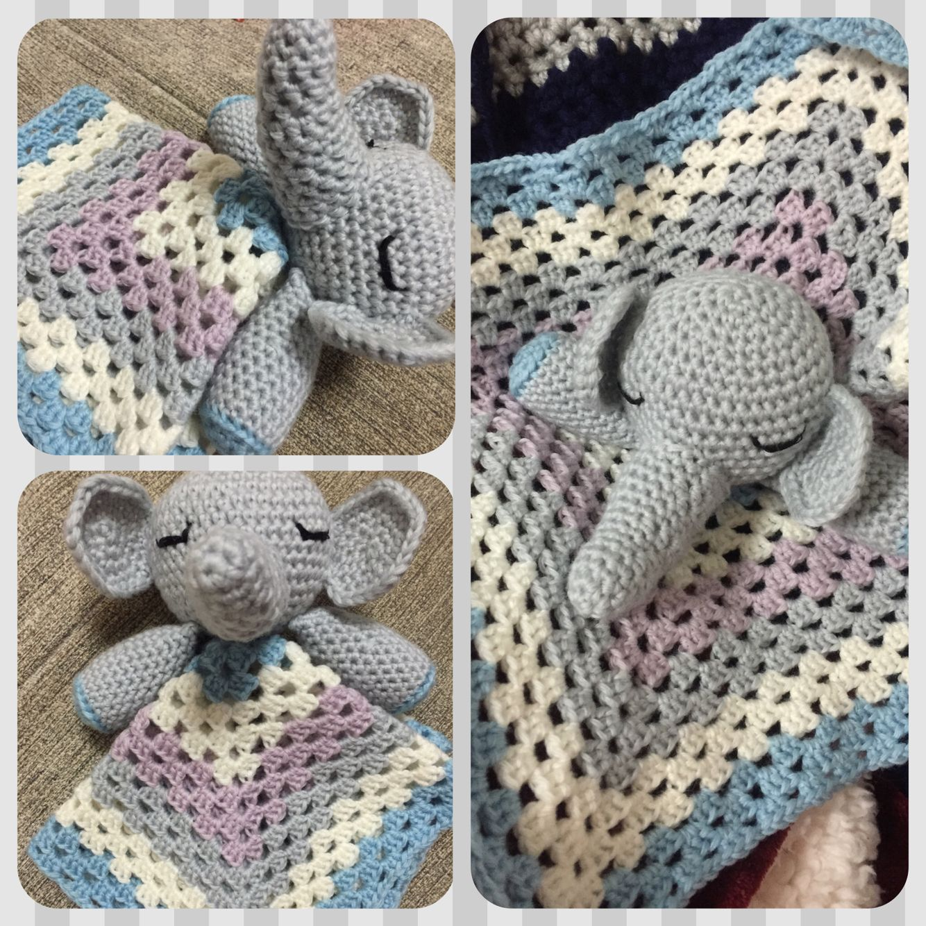 Elephant snuggle! Elephant: double strand yarn / 5.00mm (8/0 JP ...
