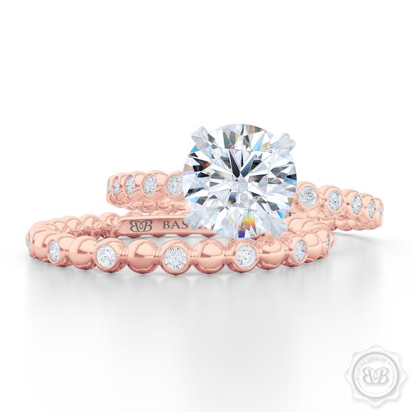 POLKA DOT Wedding Band Gia certified diamonds Boca raton