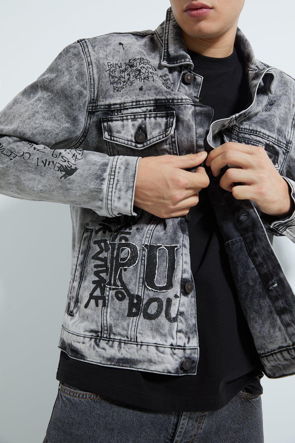 Image 5 Of Graffiti Denim Jacket From Zara Denim Coat Jacket Denim Jacket Denim Jacket Men [ 1536 x 1024 Pixel ]
