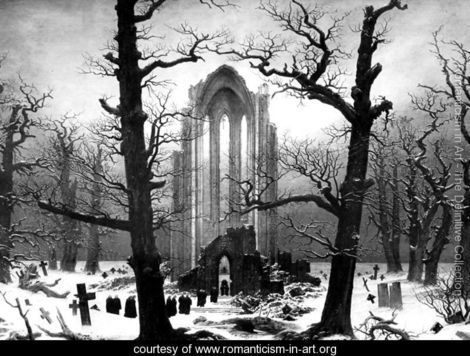 Monastery Graveyard In The Snow by Casper David Friedrich #photography #gothic