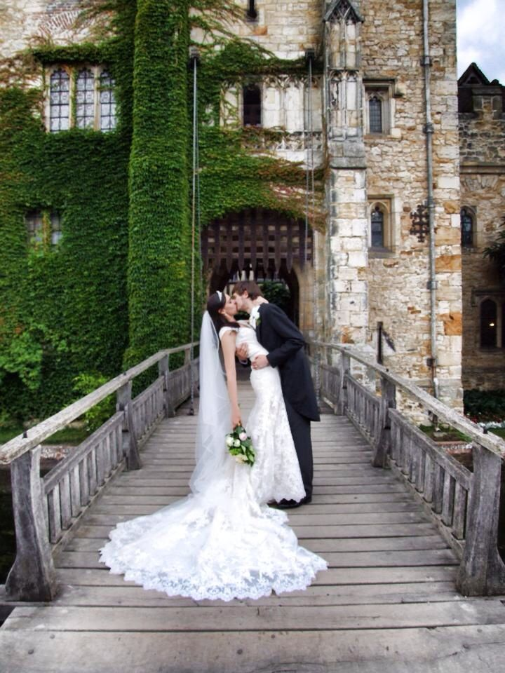 Princess Wedding Hever Castle British Long Dress