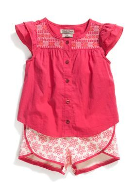 Lucky Brand  Myra Floral Tulip Short Set Toddler Girls
