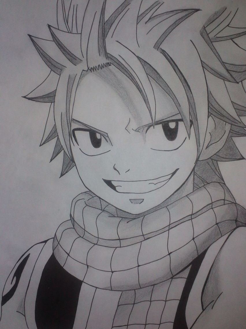 Natsu Dragneel With Images Fairy Tail Drawing Natsu Drawing