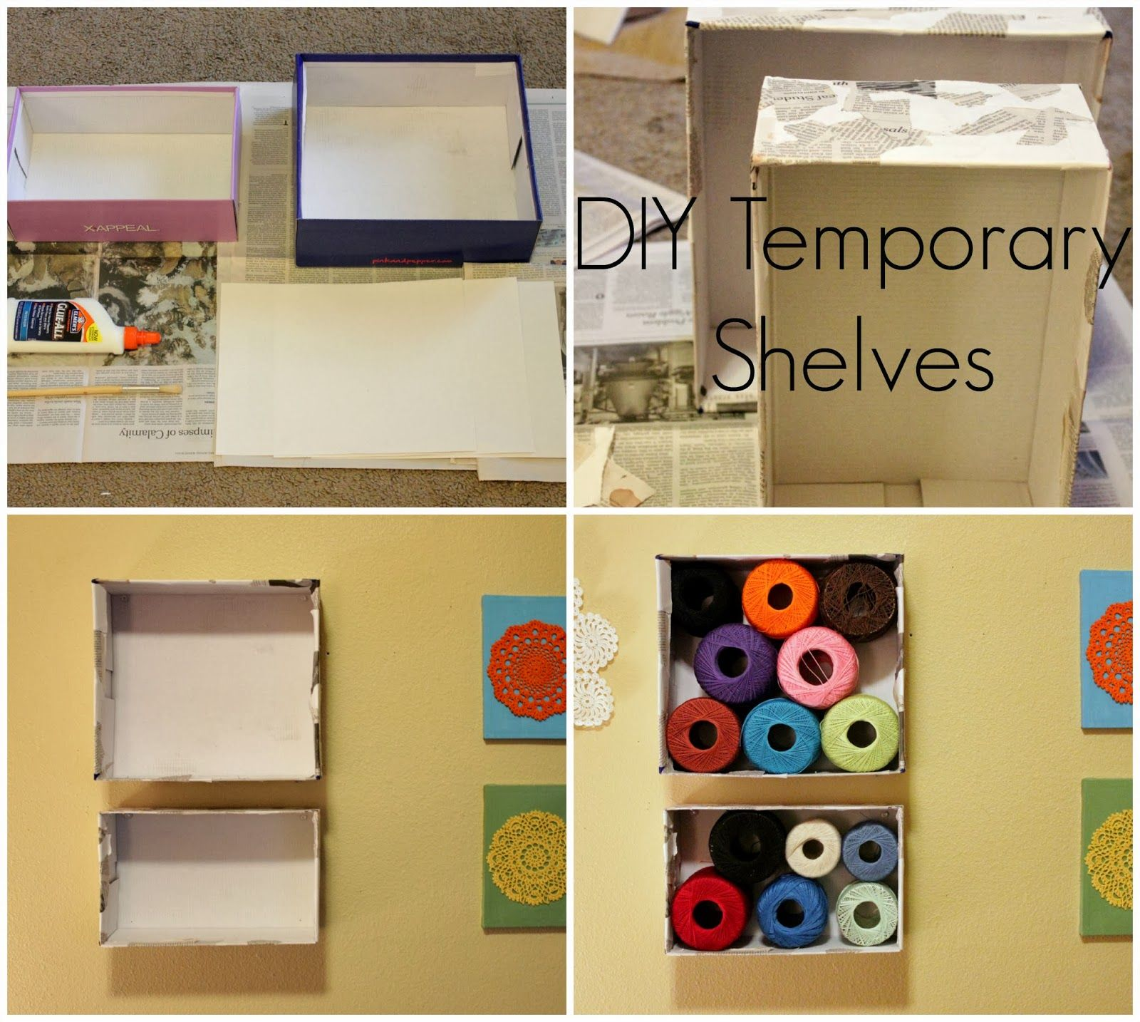 DIY Temporary Shelves | Shelves, Apartments and Apartment ideas