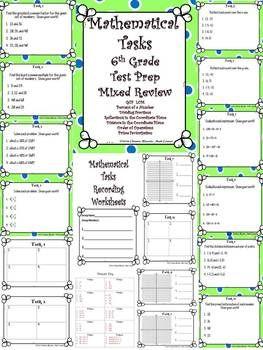 6th Grade Math Test Prep Mixed Review: Mathematical Tasks | Math