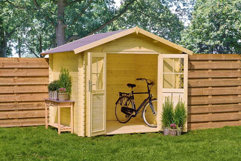 Mr Gardener Blockbohlenhaus Newport 230 X 230 Cm Hagebau De Holz Kaufen Haus Gartenhaus