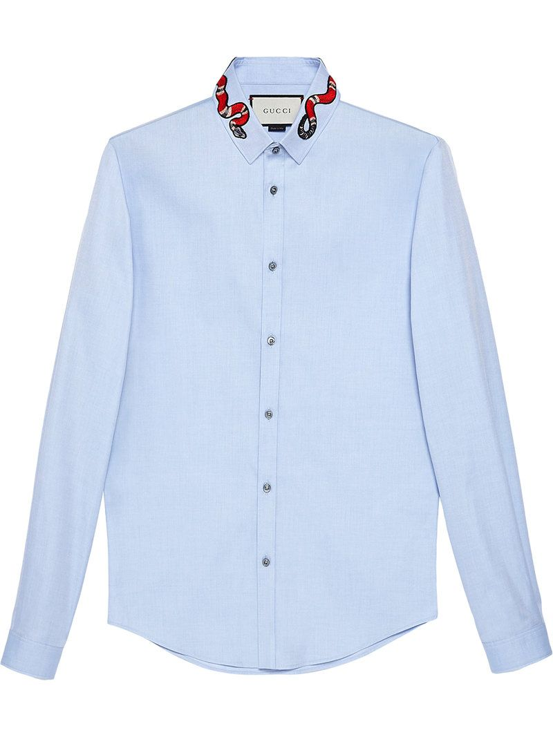 Gucci Gucci Oxford Duke Shirt With Snake Gucci Cloth Gucci