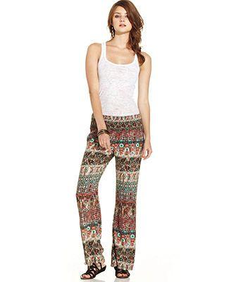 American Rag Printed Wide-Leg Pants $25