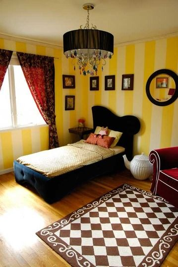 Awesome Alice In Wonderland Inspired Girls Room Love The Wicker Teapot Bedroom Decor