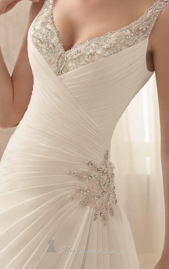 Vestidos elegantes brillantes de novia