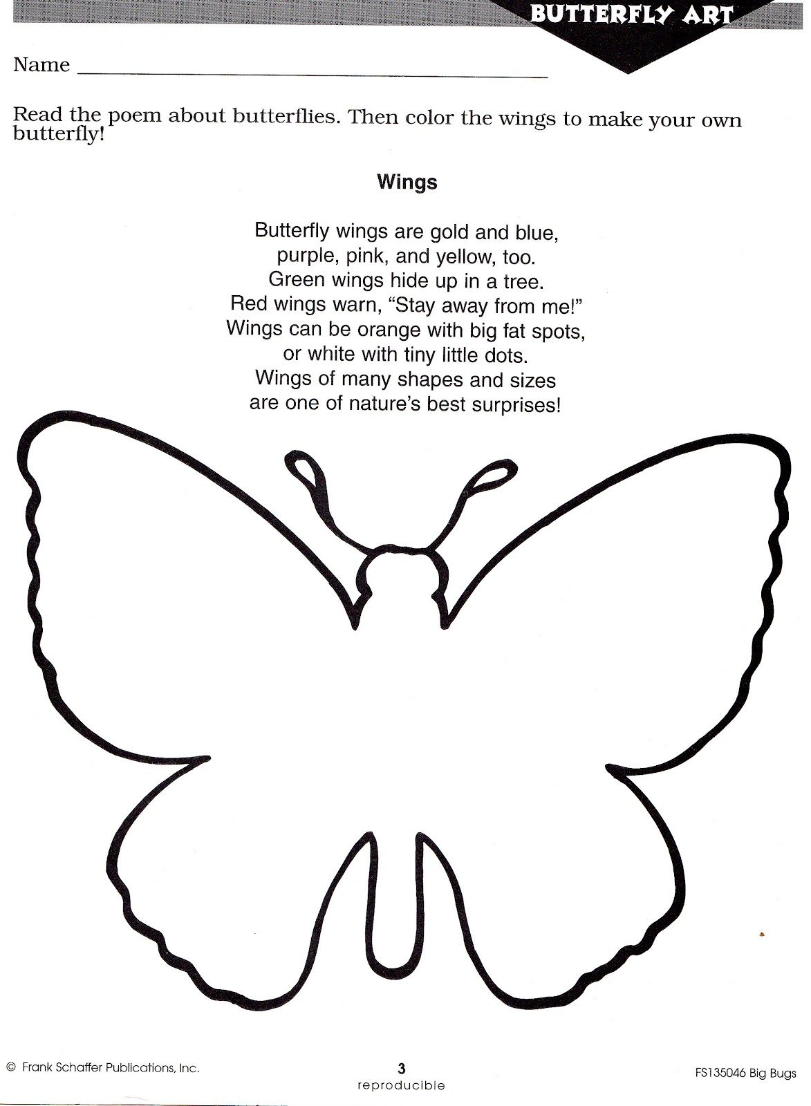 Squish Preschool Ideas April Insects Butterfly
