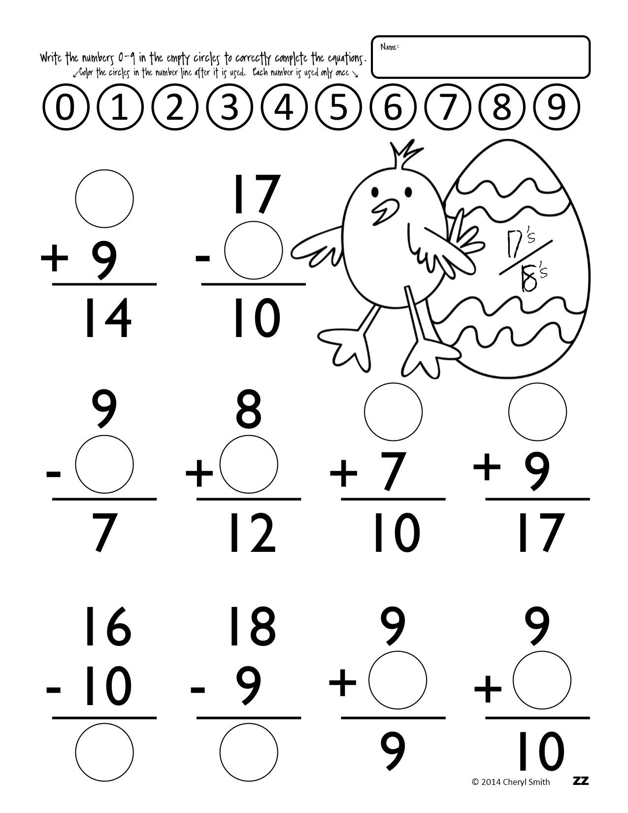 Math Facts: St. Patrick\'s Day / Easter (Addition and Subtraction ...