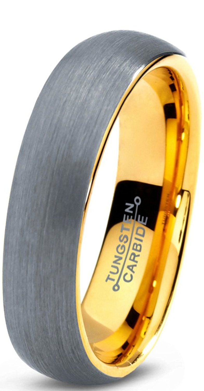 Tungsten Wedding Band Ring 5mm for Men Women Comfort Fit