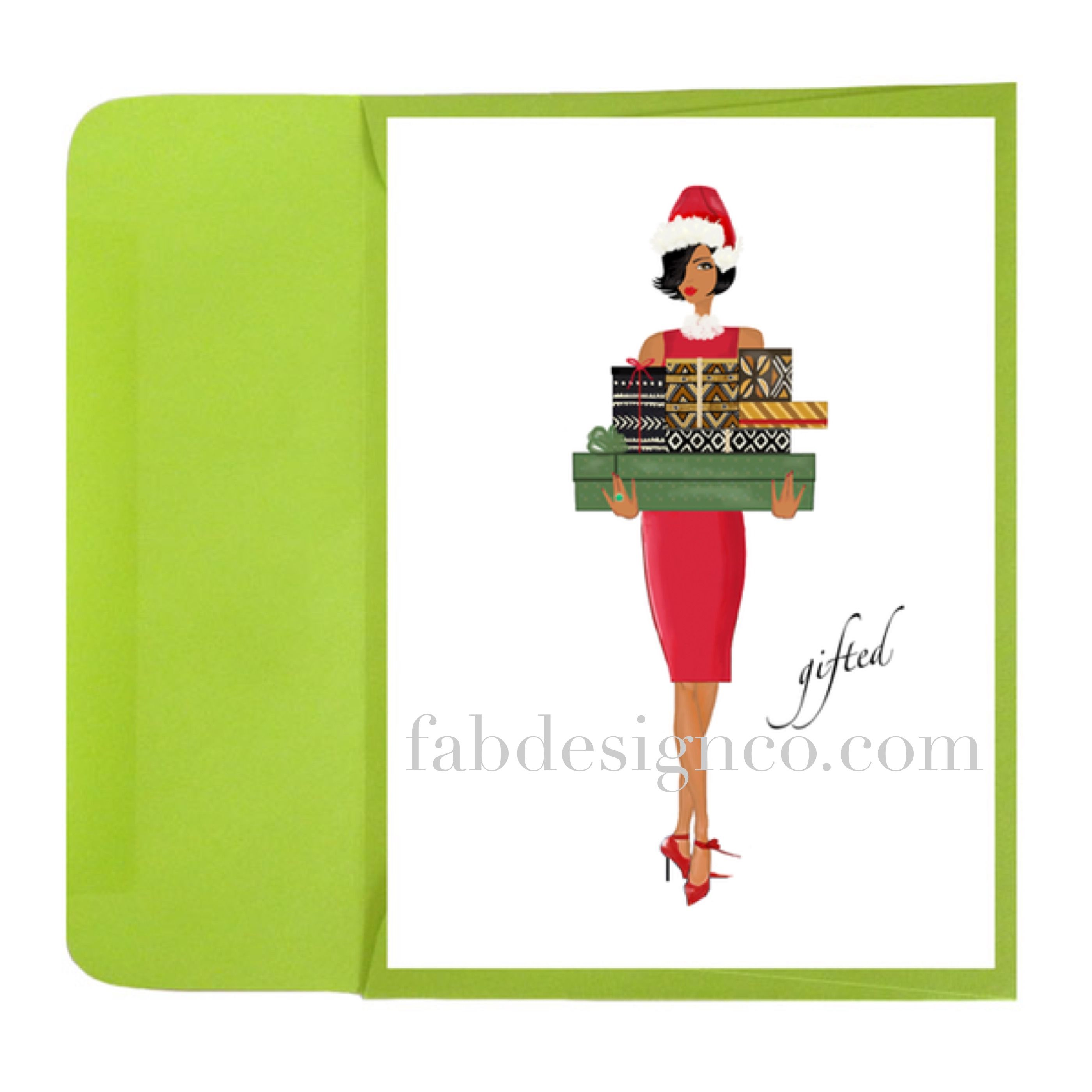 Gifted Holiday Card Black Christmas Christmas Greeting Cards And