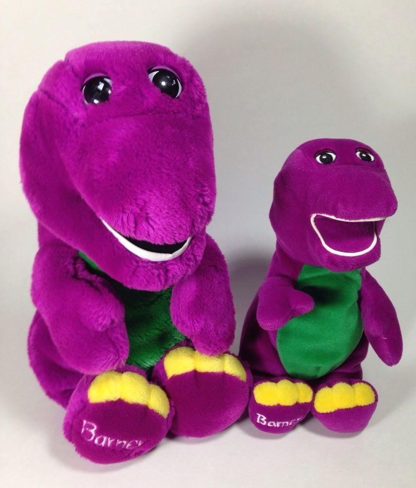 Lot 2 Barney The Purple Dinosaur Plush Stuffed Animals